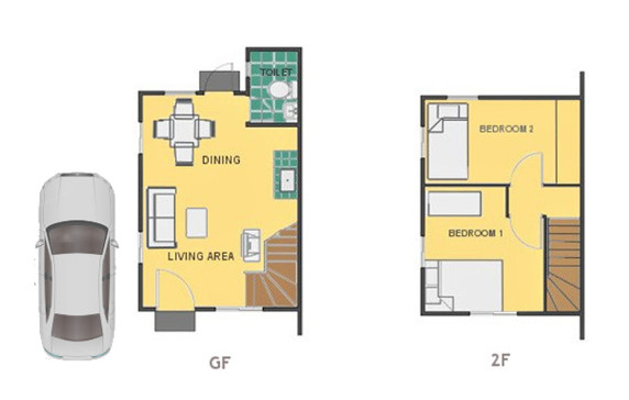 Mika Floor Plan House and Lot in Urdaneta