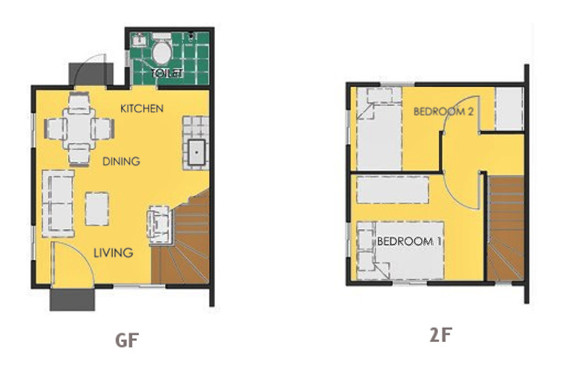 Ravena Floor Plan House and Lot in Urdaneta