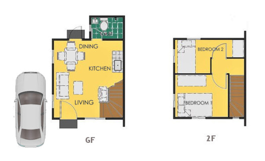 Reva Floor Plan House and Lot in Urdaneta
