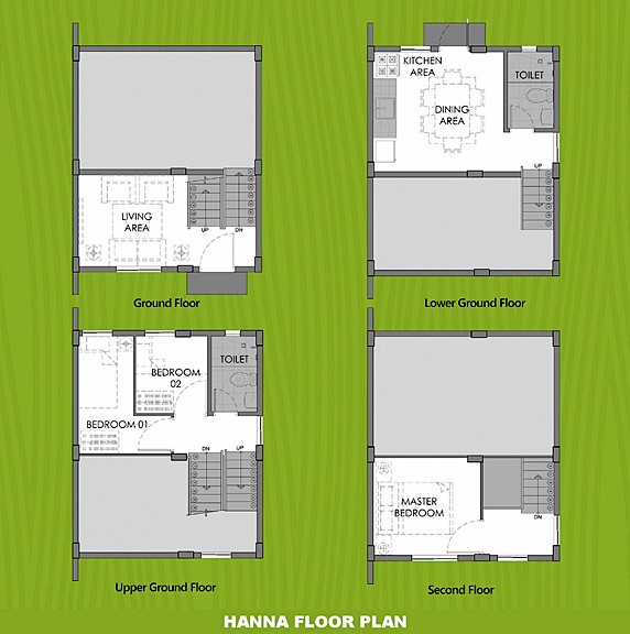 Hanna Floor Plan House and Lot in Urdaneta