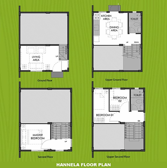 Hannela Floor Plan House and Lot in Urdaneta
