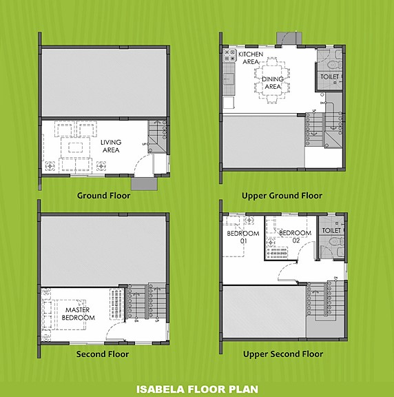 Isabela Floor Plan House and Lot in Urdaneta
