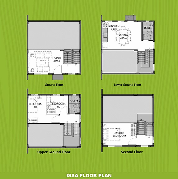 Issa Floor Plan House and Lot in Urdaneta
