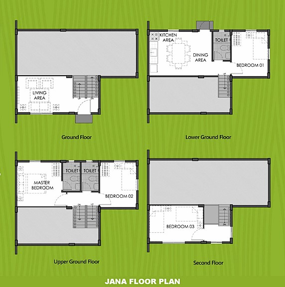 Janna Floor Plan House and Lot in Urdaneta