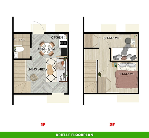 Arielle Floor Plan House and Lot in Urdaneta