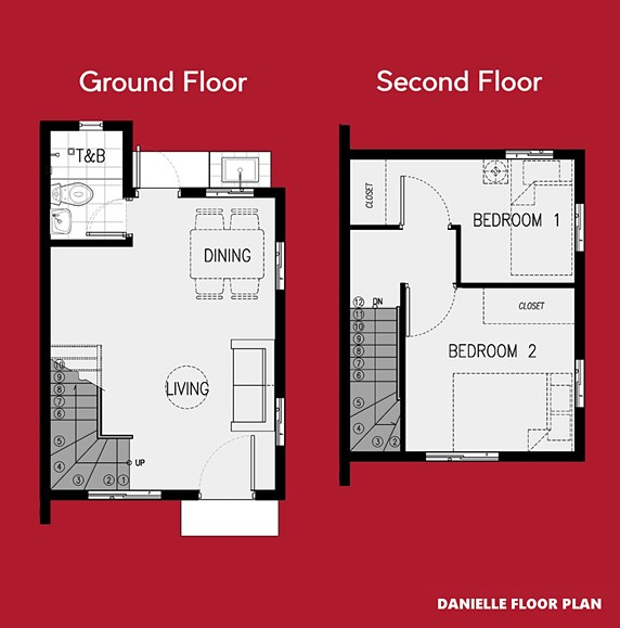 Danielle Floor Plan House and Lot in Urdaneta