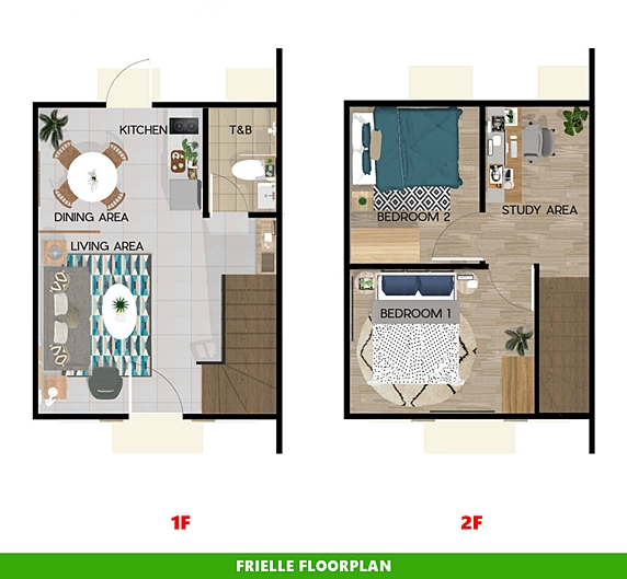 Frielle Floor Plan House and Lot in Urdaneta